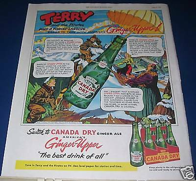 1953 Canada Dry Terry & The Pirates cartoon Ad