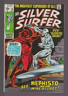 Silver Surfer # 16  See Mephisto as he Wins at Last !  grade 7.5 scarce book !