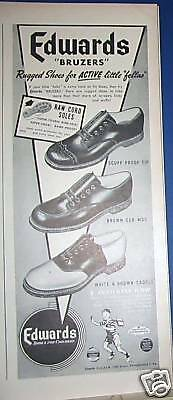 1947 Edwards Bruzers Boys' Shoes Ad
