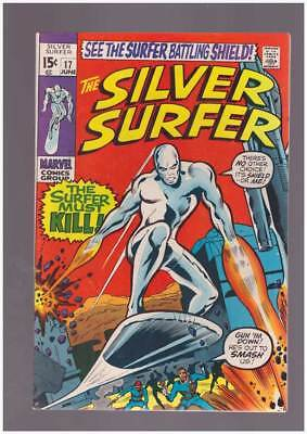 Silver Surfer # 17  The Surfer Must Kill !  grade 8.0 scarce book !