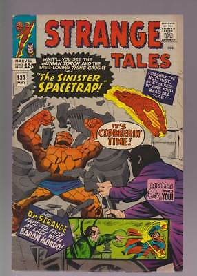 Strange Tales # 132  The Sinister Spacetrap !  grade 7.0 scarce book !