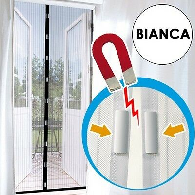 indici15 Zanzariera Self Close BIANCA chiusura Magnetica 220x100  bernigroup