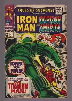Tales of Suspense # 93  He's Back..Stronger than Ever !  grade 7.0 scarce book !