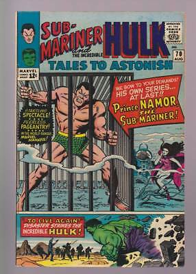 Tales to Astonish # 70  First of Sub-Mariner series !  grade 8.5 scarce book !