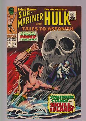 Tales to Astonish # 96  Somewhere Stands Skull Island !  grade 7.5 scarce book !