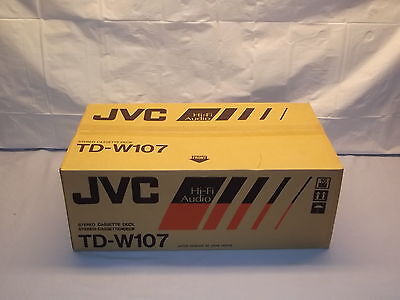 JVC TD-W107 Stereo Double Cassette Tape Deck Player / Recorder NEW In Box