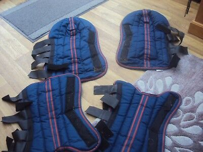 Blue Cob Size set of Four Travel Boots hardly used
