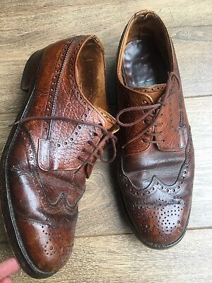 VTG 1970s Burton Northampton Made Heritage Brown Leather Brogues 9 43