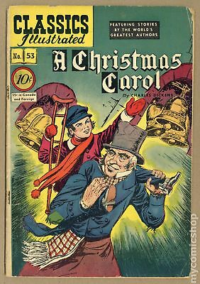 Classics Illustrated 053 A Christmas Carol (1948) #1 GD 2.0