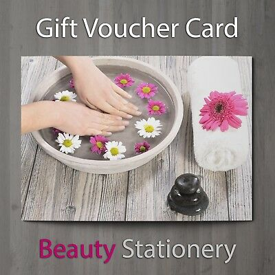 Gift Voucher Beauty Nail Salon Blank Card Pedicure Manicure Present A7 + Env.
