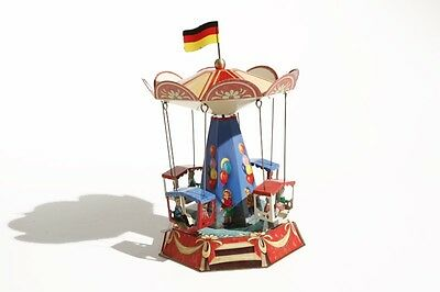 * Blechspielzeug   KIRMES-KARUSSELL mit GONDELN °° Made in Germany