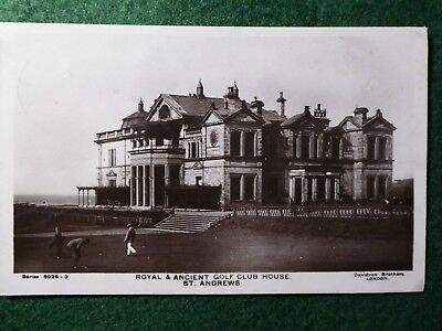 St Andrews Golf. R & A Clubhouse and 18th Green. 1907. Davidson Bros RP.
