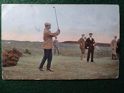 "Golf. Alexander "" Sandy "" Herd. Open Champion 1902. Rare Postcard. Posted 1917."