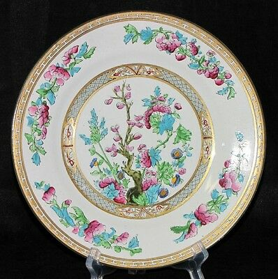 Antique Crown Chelsea England Porcelain China Luncheon Floral Plate