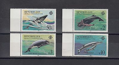 Timbre Stamp  4 Seychelles Y&t#565-68 Baleine Whale Neuf**/mnh-Mint 1984 ~A42