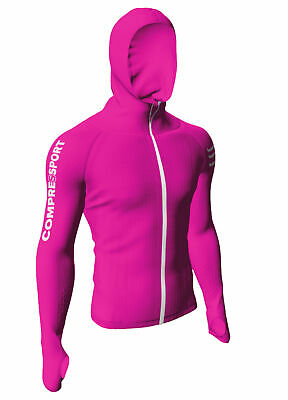 Compressport 3D Thermo Seamless Hoodie Women pink limited Damen Kapuzenpulli