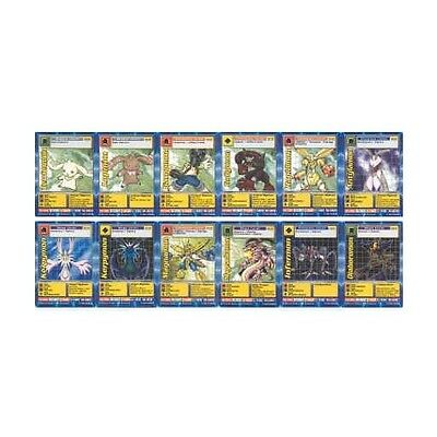 Mint Digimon Digi-Battle Promo - Complete Digimon The Movie 12 Card Set + Insert