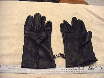 US Military Issue Light Duty Black Leather Gloves in Size 5, New Never Used