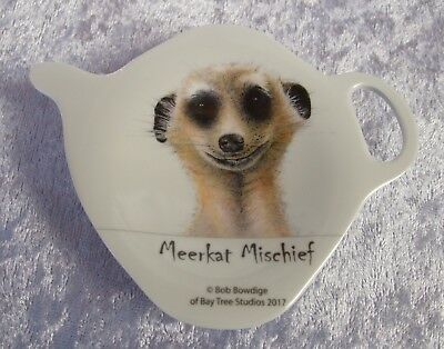 Ashdene Tea Bag Holder/teaspoon Rest - Meerkat - Meerkat Mischief Face - So Cute