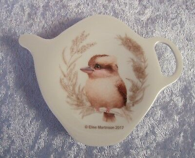 Ashdene Tea Bag Holder/teaspoon Rest - Baby Kookaburra - Little Aussie Friends