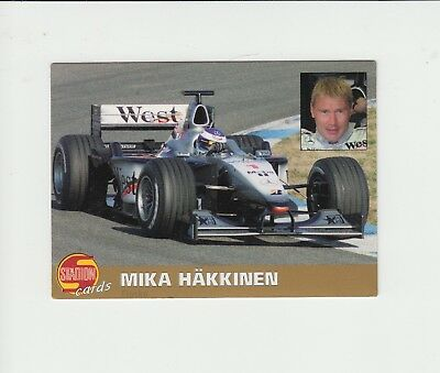 F1 Motor Racing : Mika Hakkinen :  Czech football trade card 2000