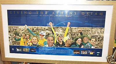 Signed & Framed Michael Klim Olympic 2004 Athens Dream