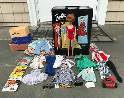 Vintage Bubblecut Barbie Midge Doll Lot With Case And Accessories 1960's 1970's