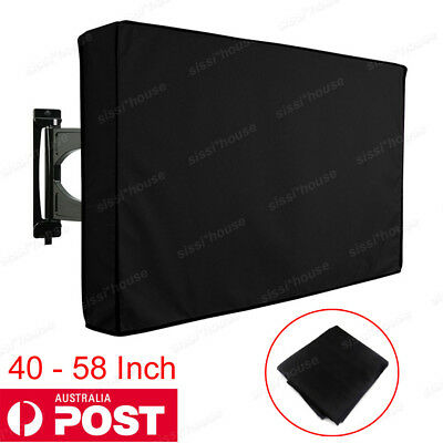 NEW 40-42 Inch Waterproof Television Cover Outdoor TV Cover Protector Black AU