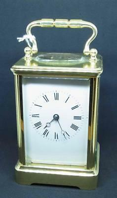 A Lovely English Working Brass Striking Carriage Clock Ref loot321