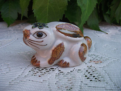 Tonala Mexican Folk Art Pottery Bunny Rabbit Or Hare ( Ken Edwards Bird Mark ?)