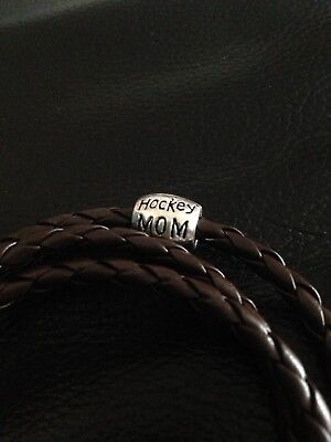Triple Ice Hockey Mom Charm Bracelet