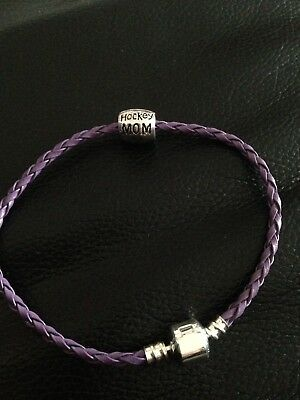 Single Ice Hockey Mom Charm Bracelet