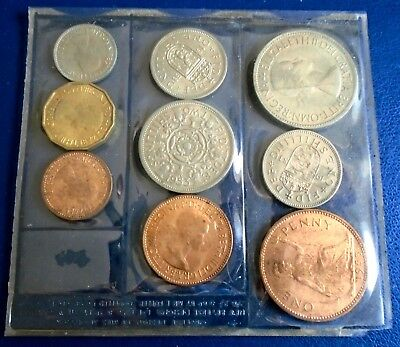 1953 Royal Mint Uncirculated Set, Plastic Wallet of Issue, top grades, sl toning