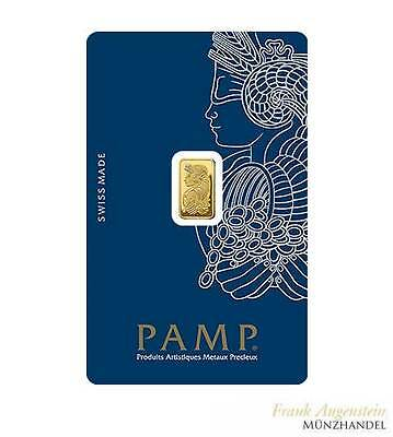 Goldbarren Pamp Suisse 1 g .9999 Gold in Blister mit Veriscan™ Technologie