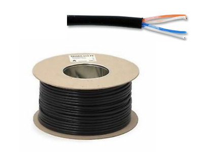 4 Core Flat Black Phone/Telephone Cable/Wire 100 Mtr Reel