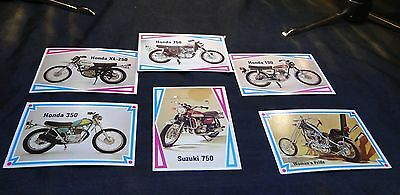 Motorcycle Trading Cards - Group D - QTY: 6