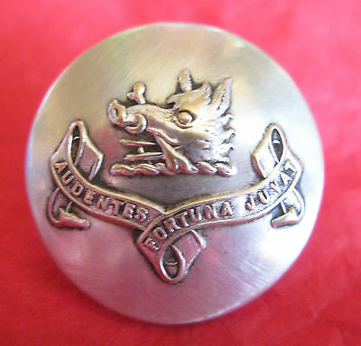 """Rare Large Set Of 6 Clan Mackinnon Buttons """"audentes Fortuna Juvat"""" Boars Head"""