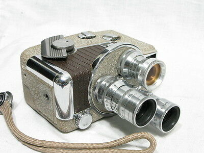 Revere 8 B-63 Movie Camera, Elgeet,nikkor Lenses Good