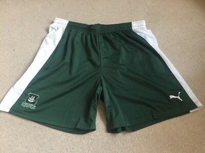 Plymouth Argyle Football Shorts Size Xxl Very Rare Brand New With Tags
