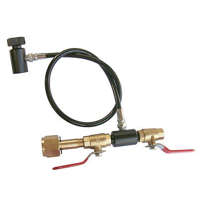 """New Paintball 24"""" High Pressure Hose Line Deluxe Dual Valve CO2 Fill Station"""