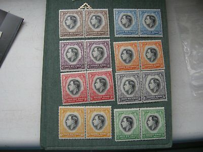 South West Africa 8 pairs of Bilingual stamps KGVI 1937 MM