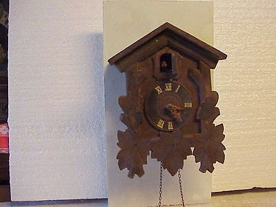 Vintage G. M. Angem 1 Day Cuckoo Clock Incomplete parts repair E