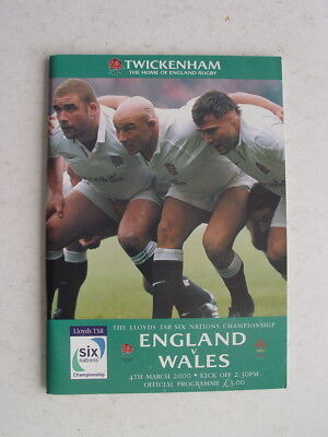 England v Wales 2000 Rugby