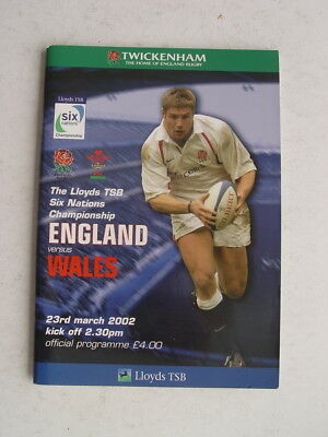 England v Wales 2002 Rugby