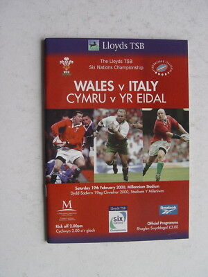 Wales v Italy 2000 Rugby