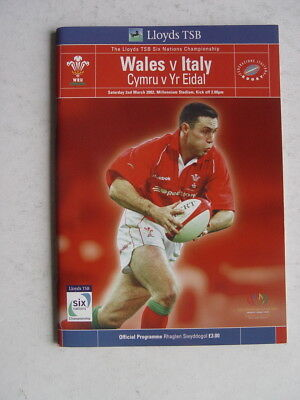 Wales v Italy 2002 Rugby