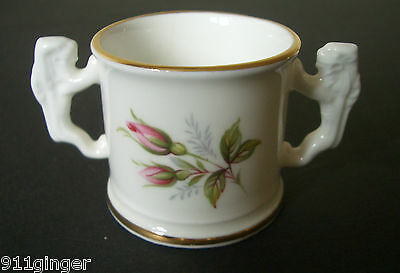 ROYAL KENT Mini Bone China Rose Painted Loving Cup - Beautiful & Delicate