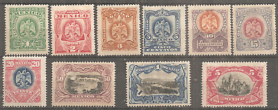 Mexico 1899 Full Set Mlh* Full Origin Gum Watermark Appear Clear On Scans.v Fine