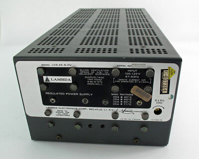 Lambda LCS-EE-5-OV 105-132V Regulated Power Supply 57-63Hz