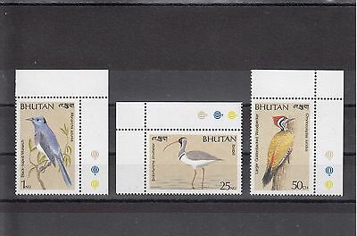 Timbre Stamp  3 Bouthan  Y&t#866-68 Oiseau Bird Neuf**/mnh-Mint 1989 ~A26